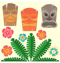 hawaii mask vector image