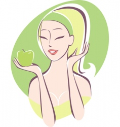 healthy girl vector image