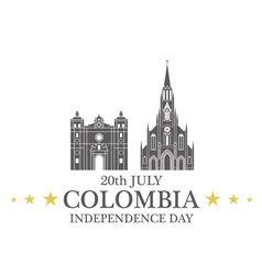 Independence day colombia vector