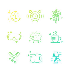 Insomnia line icons vector