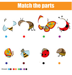 matching children educational game kids activity vector image vector image