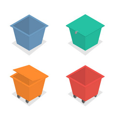 metal container for garbage in isometric vector image vector image