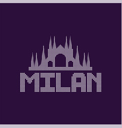 original logo of milan city with caption vector image