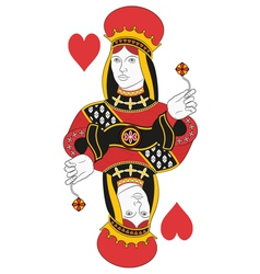 Queen of hearts no card vector