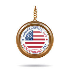 round medallion for usa independence day vector image