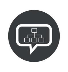 Round scheme dialog icon vector
