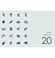 Set of australia icons vector