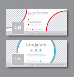 Set of banners for the social network vector