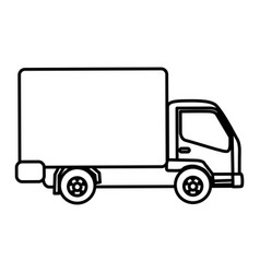 silhouette trucks trailer icon vector image