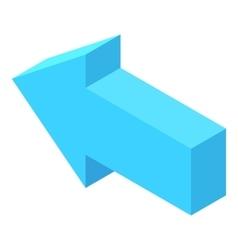 Straight blue arrow icon cartoon style vector