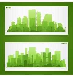 Various part cities skyline sets vector