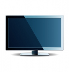 vector computer monitor vector image vector image