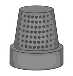 Thimble icon black monochrome style vector