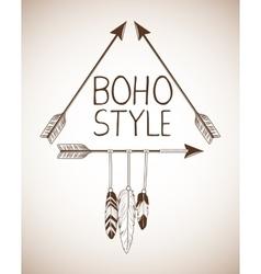 Boho style bohemic and ornament design vector