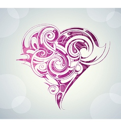 Abstract love heart design vector image