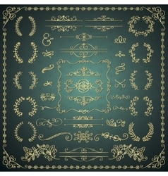 Golden hand drawn decorative doodle design vector