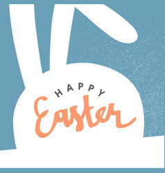 Happy easter greeting card easter bunny pastel vector