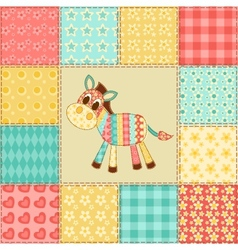 Zebra patchwork pattern vector