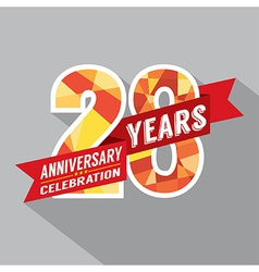 28th years anniversary celebration design vector