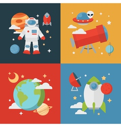 Space theme banners and cards vector