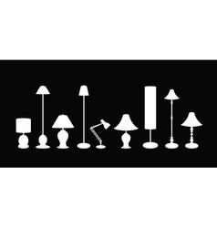 Lampshade set vector