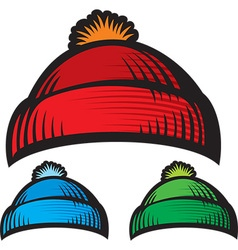 Knitted cap vector image