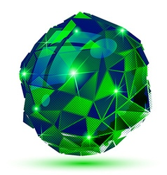 Plastic pixel dimensional object emerald dotted vector