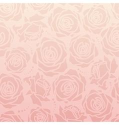 Rose romantic pattern vector image