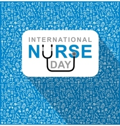 For international nurse day vector