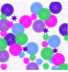 background with decorative flowers vector image vector image