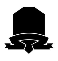 black icon emblem vector image