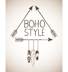 Boho style bohemic and ornament design vector