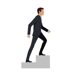 Businessman walking up stairs vector