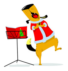 christmas avatar with a singing dog new years vector image