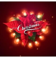 Christmas lights holiday vector