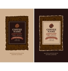 design labels for coffee vector image vector image