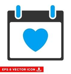 Favourite heart calendar day eps icon vector