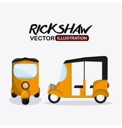 Flat about rickshaw design vector