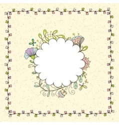frame with a simple floral pattern vector image