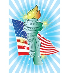 hand of liberty vector image