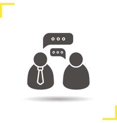 Job interview icon vector image