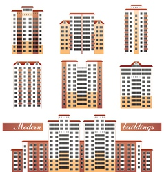 modern buildings set vector image