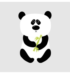 Panda baby bear cute cartoon character holding vector