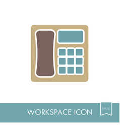 phone outline icon workspace sign vector image vector image