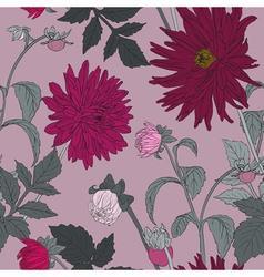 Romantic Seamless Flower Pattern vector image vector image