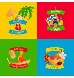 Thailand banners set flat style vector image