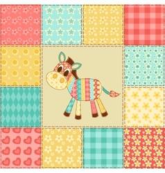 Zebra patchwork pattern vector image vector image