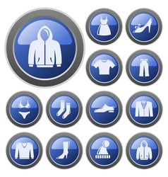 Clothes buttons vector image