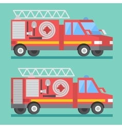 Fire rescue truck Firefighter department vector image