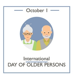International Day of Older Persons vector image